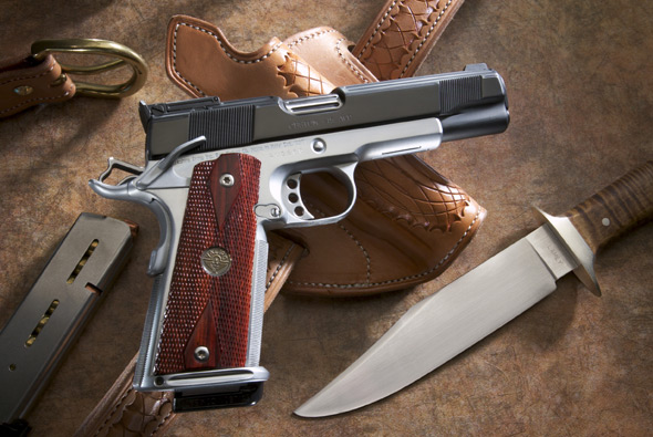 Extremely Highly Customized Two-Tone 1911 handgun